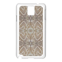 Love Hearts Beach Seashells Shells Sand  Samsung Galaxy Note 3 N9005 Case (White)