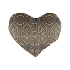 Love Hearts Beach Seashells Shells Sand  Standard 16  Premium Flano Heart Shape Cushion