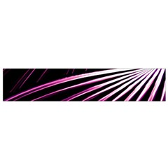 Bending Abstract Futuristic Print Flano Scarf (Small)