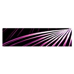 Bending Abstract Futuristic Print Satin Scarf (oblong)