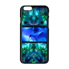 when eyes hear by saprillika Apple iPhone 6 Black Enamel Case