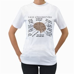 Atlas Of A Podiatrist s Brain Women s Two-sided T-shirt (White)