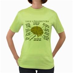 Atlas Of A Podiatrist s Brain Women s T Shirt (green)