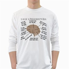 Atlas Of A Podiatrist s Brain Men s Long Sleeve T-shirt (White)