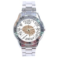 Atlas Of A Podiatrist s Brain Stainless Steel Watch