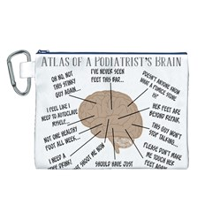 Atlas Of A Podiatrist s Brain Canvas Cosmetic Bag (Large)