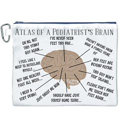 Atlas Of A Podiatrist s Brain Canvas Cosmetic Bag (XXXL)