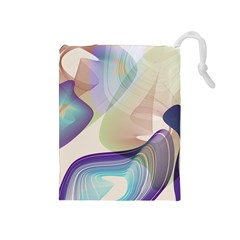 Abstract Drawstring Pouch (medium)
