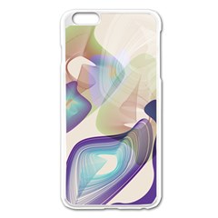 Abstract Apple iPhone 6 Plus Enamel White Case