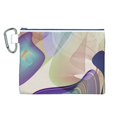 Abstract Canvas Cosmetic Bag (Large)