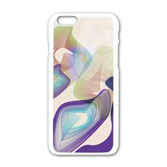 Abstract Apple iPhone 6 White Enamel Case