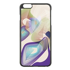Abstract Apple iPhone 6 Plus Black Enamel Case