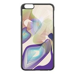 Abstract Apple Iphone 6 Plus Black Enamel Case