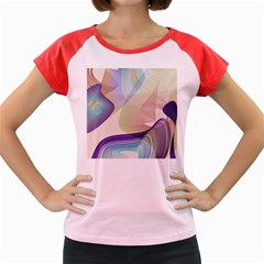 Abstract Women s Cap Sleeve T-Shirt (Colored)