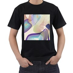 Abstract Men s Two Sided T-shirt (Black)