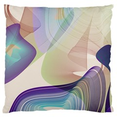 Abstract Large Flano Cushion Case (Two Sides)