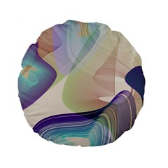 Abstract Standard 15  Premium Flano Round Cushion