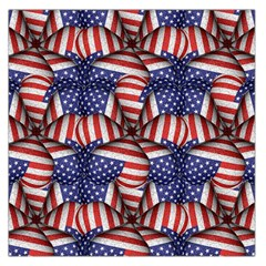 4th of July Modern Pattern Print Large Satin Scarf (Square)