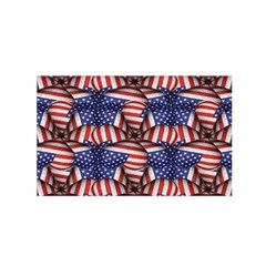 4th of July Modern Pattern Print Satin Wrap