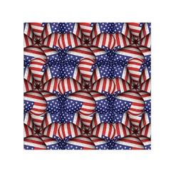 4th of July Modern Pattern Print Small Satin Scarf (Square)