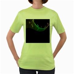 Musical Wave Women s T-shirt (Green)