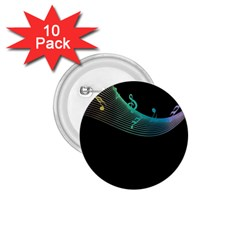 Musical Wave 1 75  Button (10 Pack)