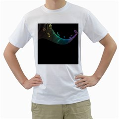 Musical Wave Men s Two-sided T-shirt (White)