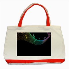 Musical Wave Classic Tote Bag (Red)