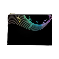 Musical Wave Cosmetic Bag (large)