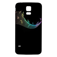 Musical Wave Samsung Galaxy S5 Back Case (White)
