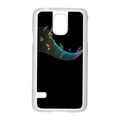Musical Wave Samsung Galaxy S5 Case (White)
