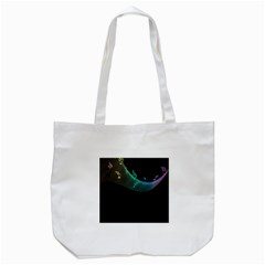 Musical Wave Tote Bag (White)