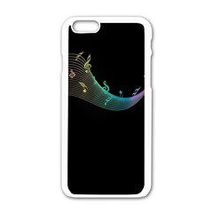 Musical Wave Apple Iphone 6 White Enamel Case