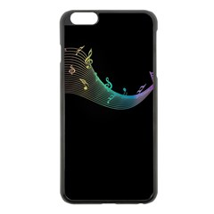 Musical Wave Apple iPhone 6 Plus Black Enamel Case