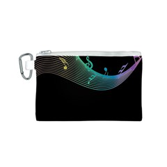 Musical Wave Canvas Cosmetic Bag (small)