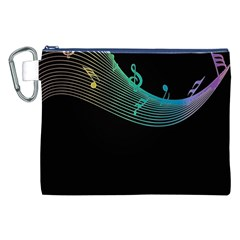 Musical Wave Canvas Cosmetic Bag (xxl)