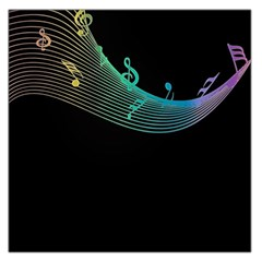 Musical Wave Large Satin Scarf (square)