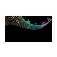 Musical Wave Satin Shawl