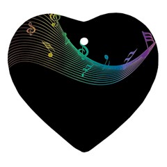 Musical Wave Heart Ornament