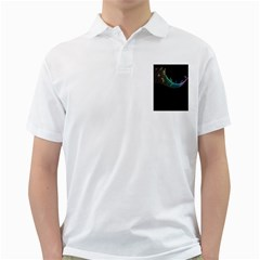 Musical Wave Men s Polo Shirt (White)