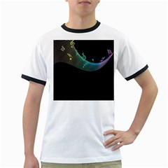 Musical Wave Men s Ringer T-shirt