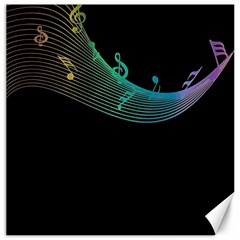 Musical Wave Canvas 20  X 20  (unframed)