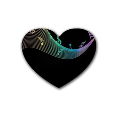 Musical Wave Drink Coasters (heart)