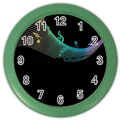 Musical Wave Wall Clock (color)