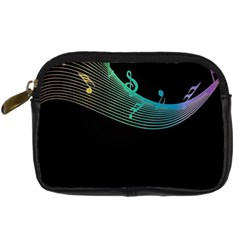 Musical Wave Digital Camera Leather Case
