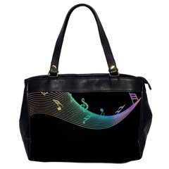 Musical Wave Oversize Office Handbag (two Sides)