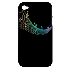 Musical Wave Apple Iphone 4/4s Hardshell Case (pc+silicone)