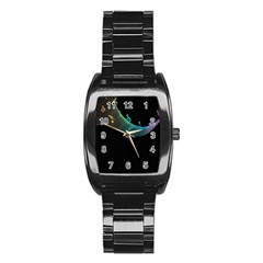 Musical Wave Stainless Steel Barrel Watch