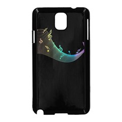 Musical Wave Samsung Galaxy Note 3 Neo Hardshell Case (Black)