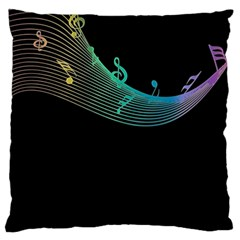 Musical Wave Standard Flano Cushion Case (Two Sides)